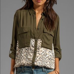 Free People Welcome To Jungle Buttondown Top